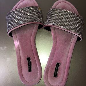 Victoria secret jeweled slide sandals